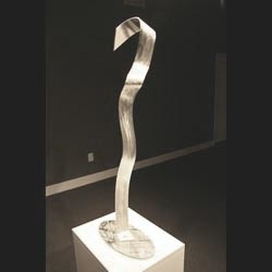 CANE - Silver Metal Sculpture by Nicholas Yust
