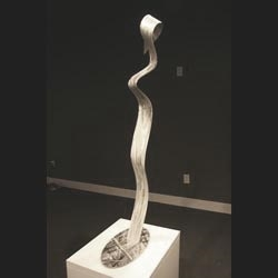 LOOKING AWAY - Silver Metal Sculpture by Nicholas Yust