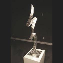 SILVER BOLT - Silver Metal Sculpture by Nicholas Yust