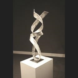 THE LOVERS - Silver Metal Sculpture by Nicholas Yust