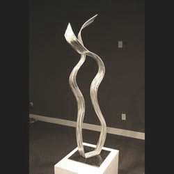 TRYING THE KNOT - Silver Metal Sculpture by Nicholas Yust